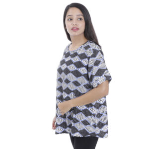 Plus Size Abstract Printed Half Sleeve T-Shirt by Attire Nepal (BST-11)