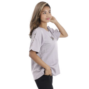 Round Neck Half T-Shirt with Slashed Sleeves by Attire Nepal (HT-115)